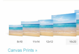 canvas print options